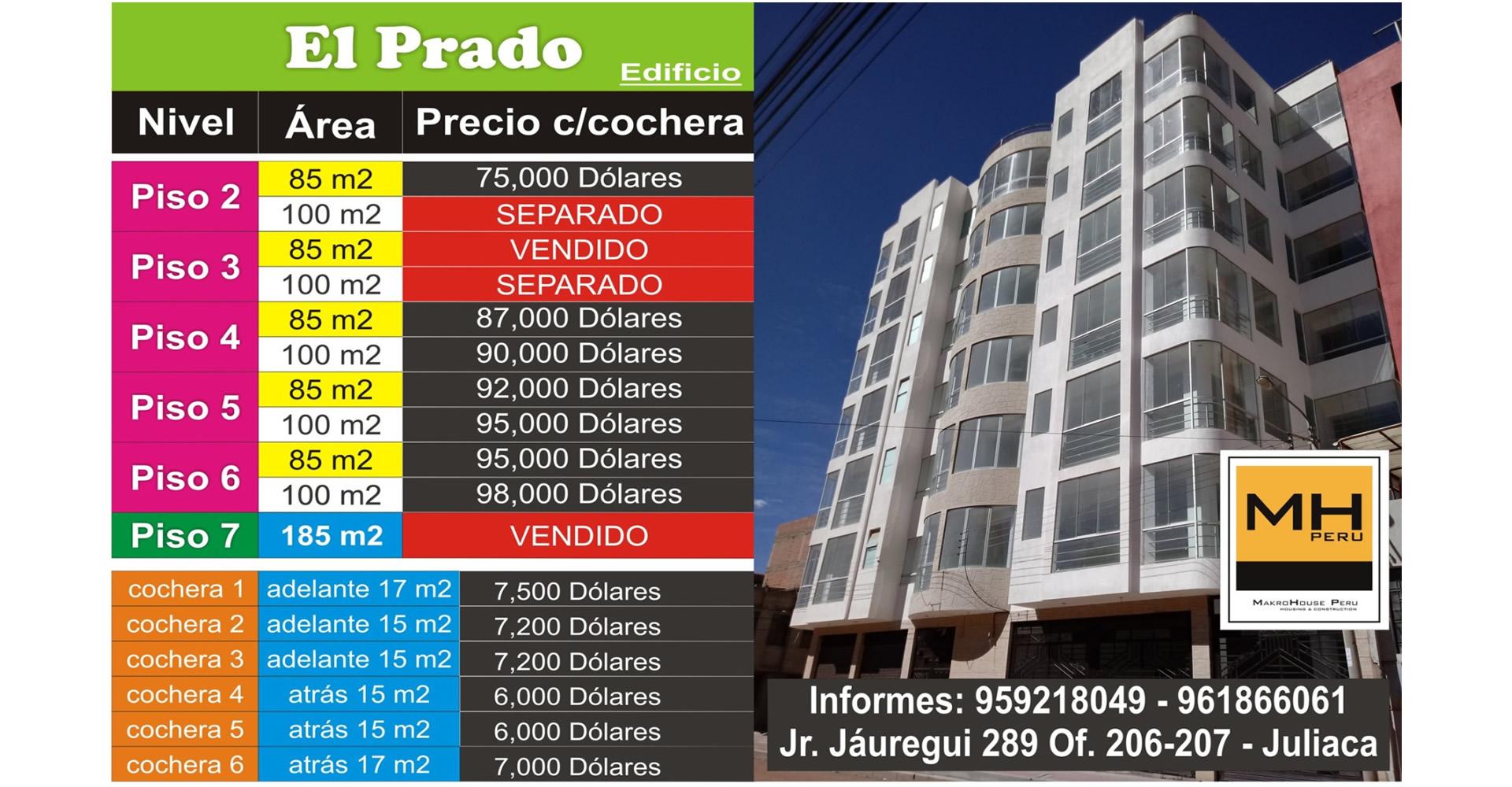 El Prado – 85m2 y 100m2 c/cochera